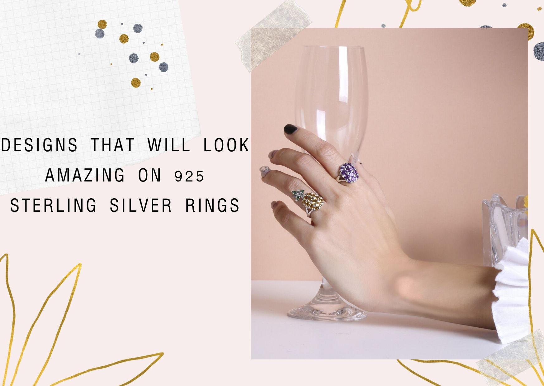 Designs that will look amazing on 925 sterling silver rings